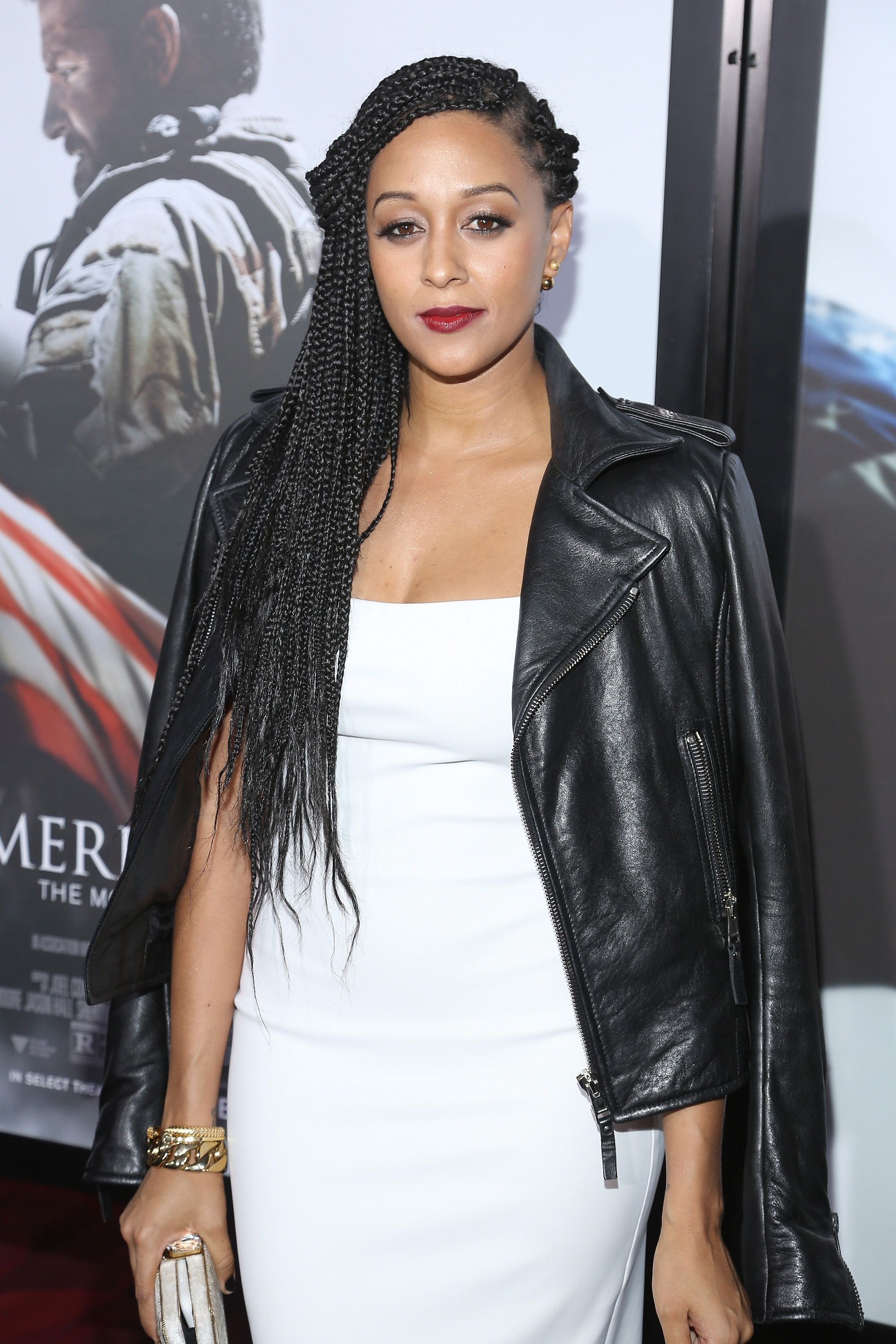 """Tia Mowry arrives at the """"American Sniper"""" New York Premiere at Frederick P. Rose Hall, Jazz at Lincoln Center on December 15, 2014 in New York City. 