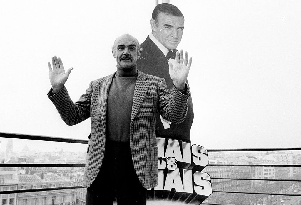 """""""Dr. No"""" star Sean Connery outside Champ Elysees in Paris, France. 