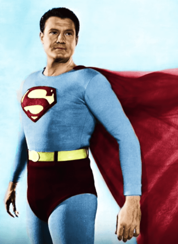 A portrait of George Reeves as Superman. | Source: YouTube/TheLifeAndSadEnding