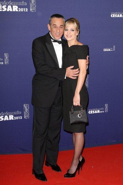Thierry Ardisson et Audrey Crespo-Mara   photo: gettyimages