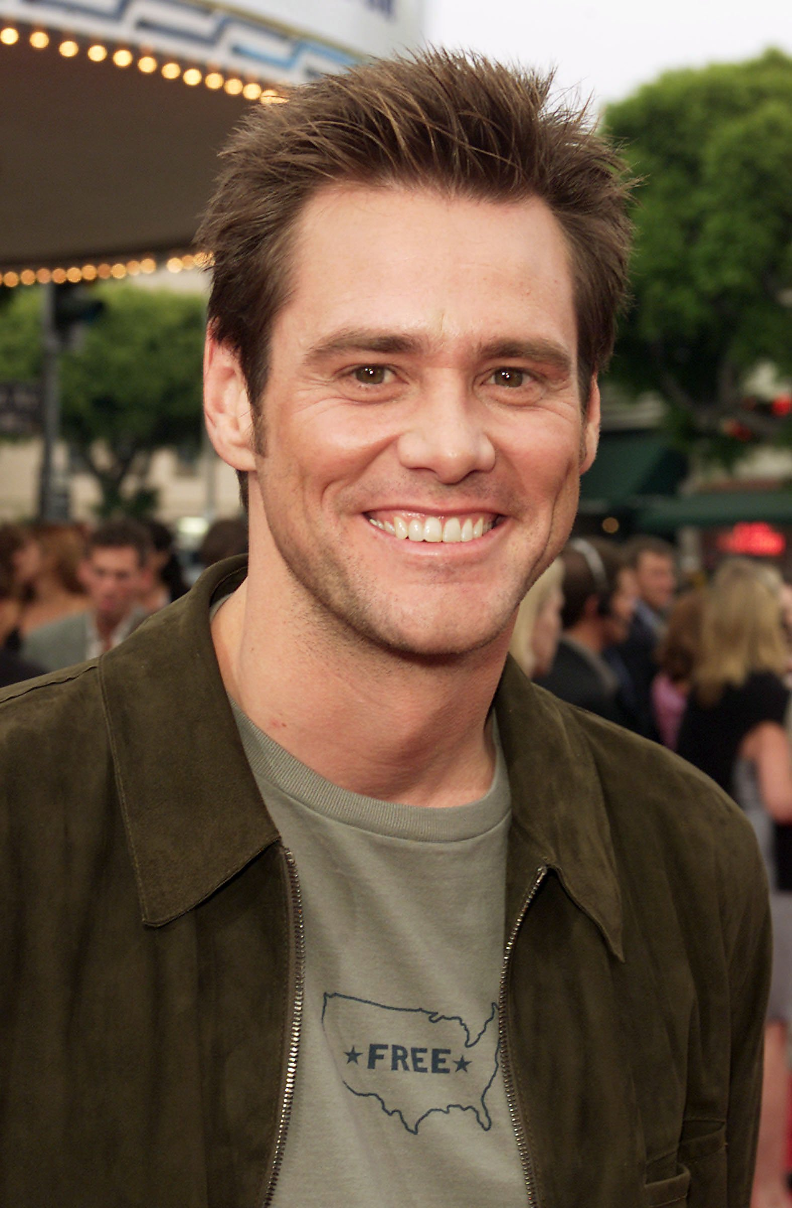 Jim Carrey at the premiere of 'Me, Myself & Irene' at the Village Theater in Westwood, Ca. onJune 15, 2000. | Source: Getty Images.