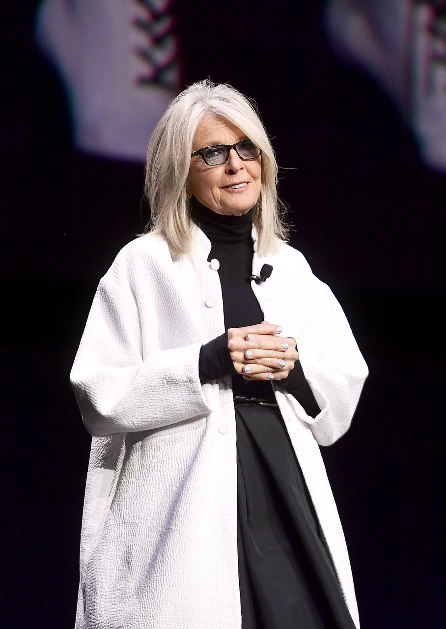 Diane Keaton speaks onstage at CinemaCon 2019 The State of the Industry and STXfilms Presentation. | Source: Getty Images