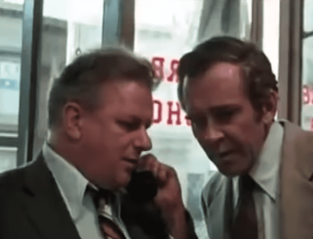 "James Broderick (right) on ""Dog Day's Afternoon."" I Image: YouTube/ Movie Clips Classic Trailers."