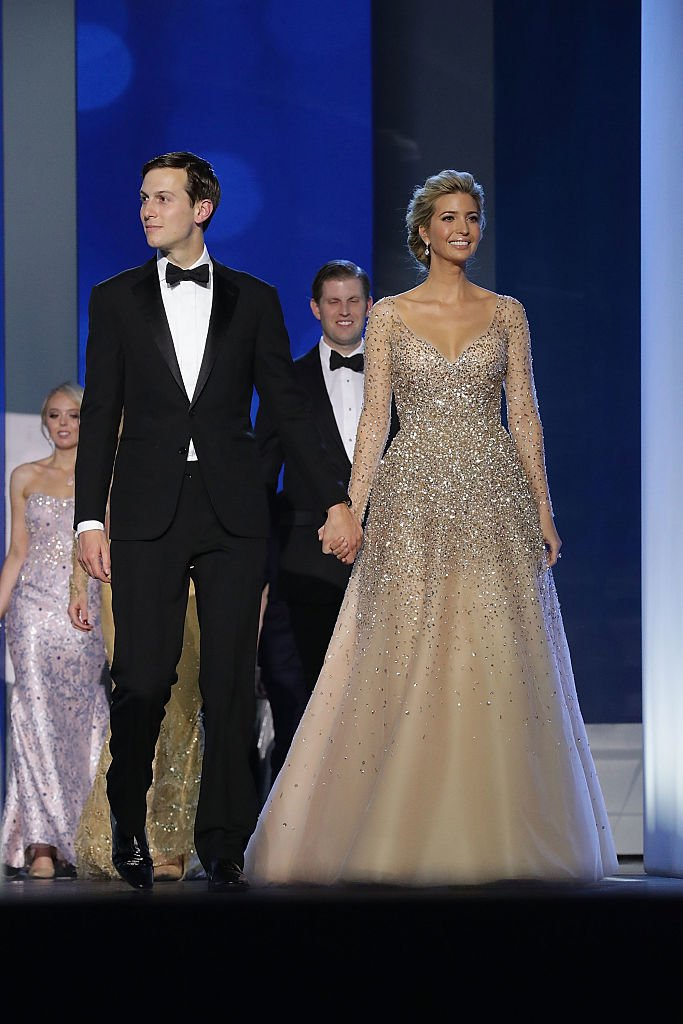 Ivanka Trump (R) and her husband Jared Kushner arrive at the Freedom Ball at the Washington Convention Center January 20, 2017 in Washington, DC. | Photo: Getty Images