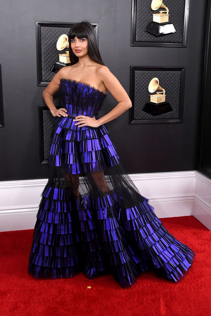 Jameela Jamil during the 62nd Annual GRAMMY Awards at Staples Center on January 26, 2020 in Los Angeles, California. | Source: Getty Images