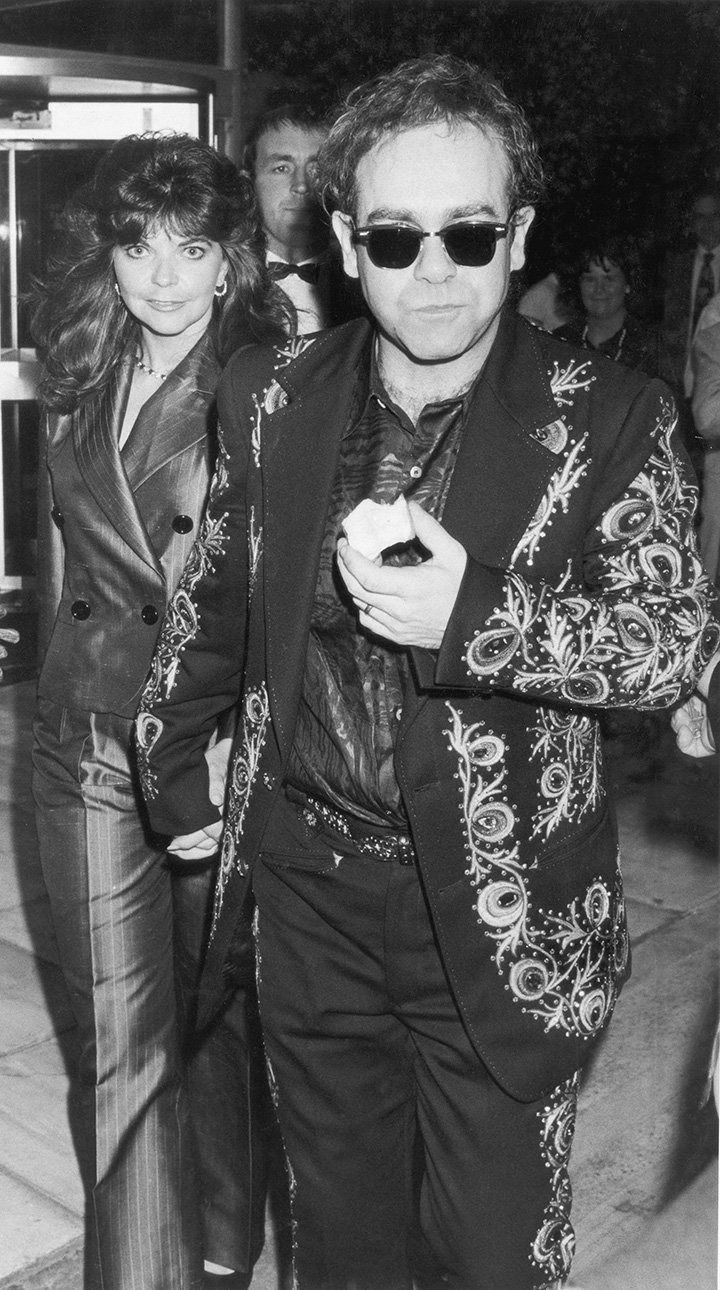 Renate Blauel and Elton John in one of their rare public outings. I Image: Getty Images.