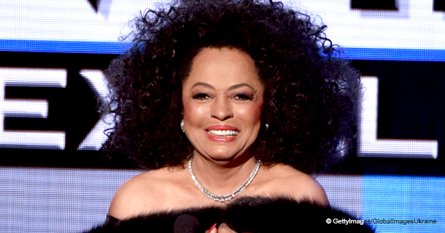 Diana Ross Stuns in a Fine Orange Dress with Hundreds of Frills for Her 75th Birthday Party