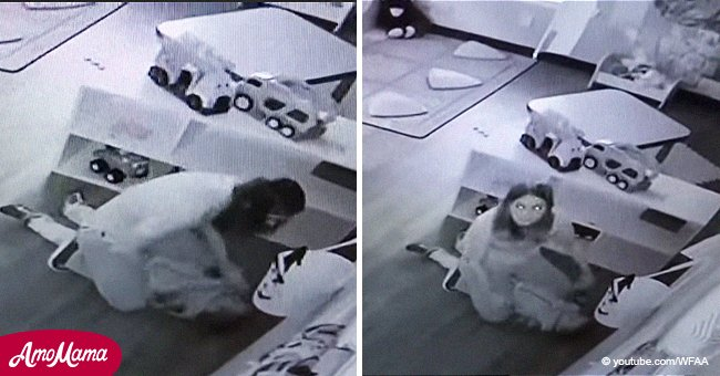 Harrowing moment daycare worker is caught on camera abusing 4-year-old