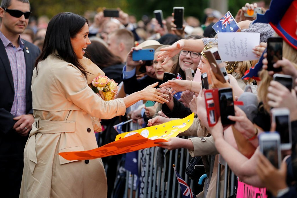 Meghan Markle greets fans during their royal trip to Melbourne last year | Image: GettyImages