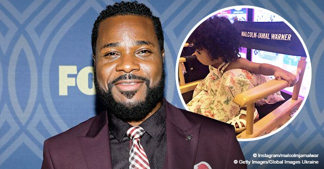 Malcolm-Jamal Warner melts hearts with rare photo of curly-haired daughter sitting in his chair