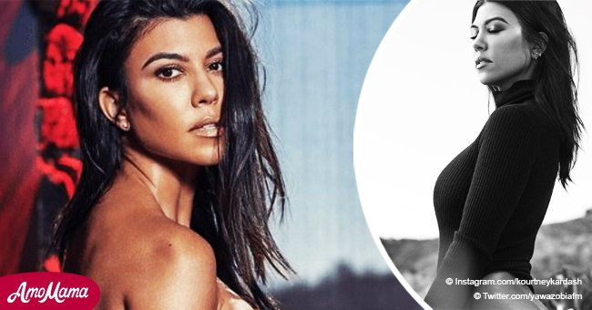 Kourtney Kardashian flashes her naked bottom while flaunting her curves in a racy photoshoot