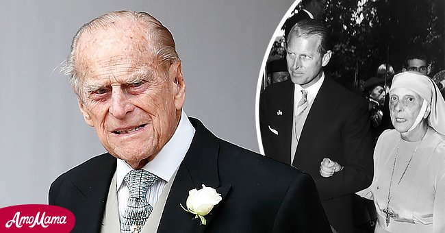 Picture of a very sad Prince Philip and a young Prince Philip with his mother   Photo: Getty Images