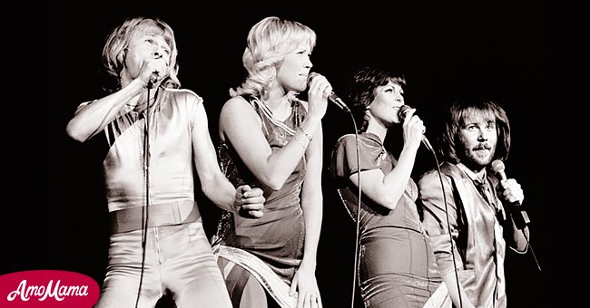 Bjorn Ulvaeus, Agnetha Faltskog, Anni-Frid Lyngstad and Benny Andersson of ABBA perform on stage at the Wembley Arena, London, England, on November 5th, 1979.  Source: Getty Images