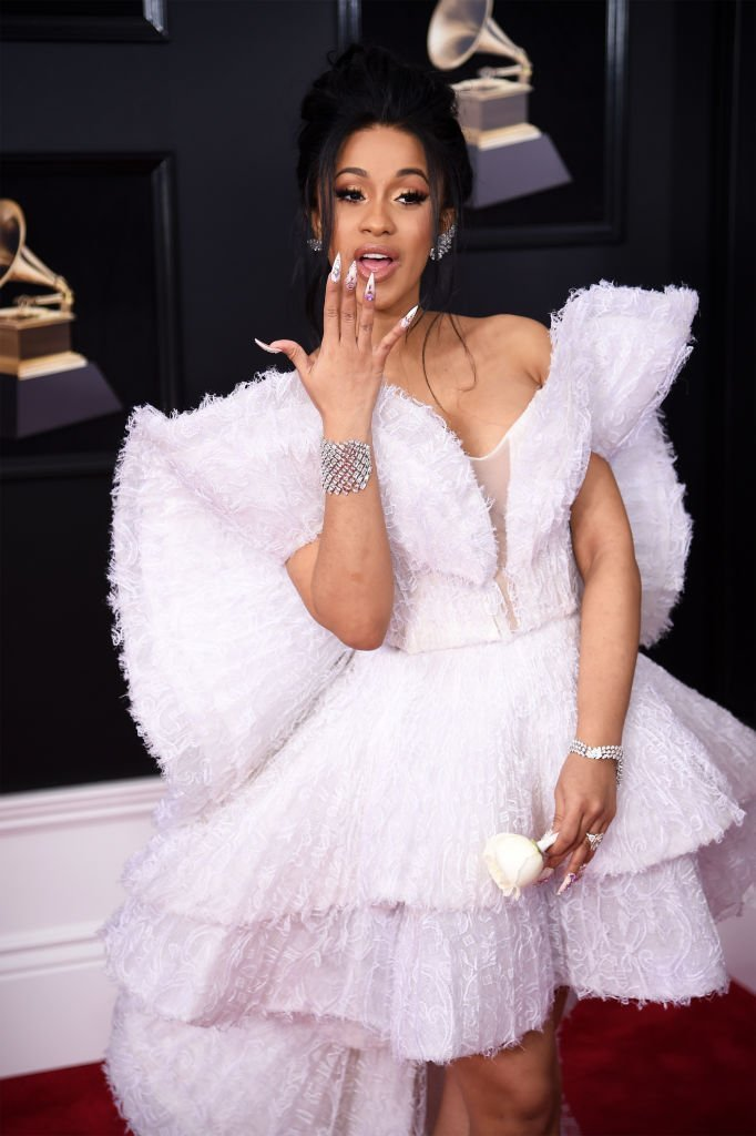 Cardi B at the 60th Annual GRAMMY Awards in New York City on Jan. 28, 2018. | Photo: Getty Images