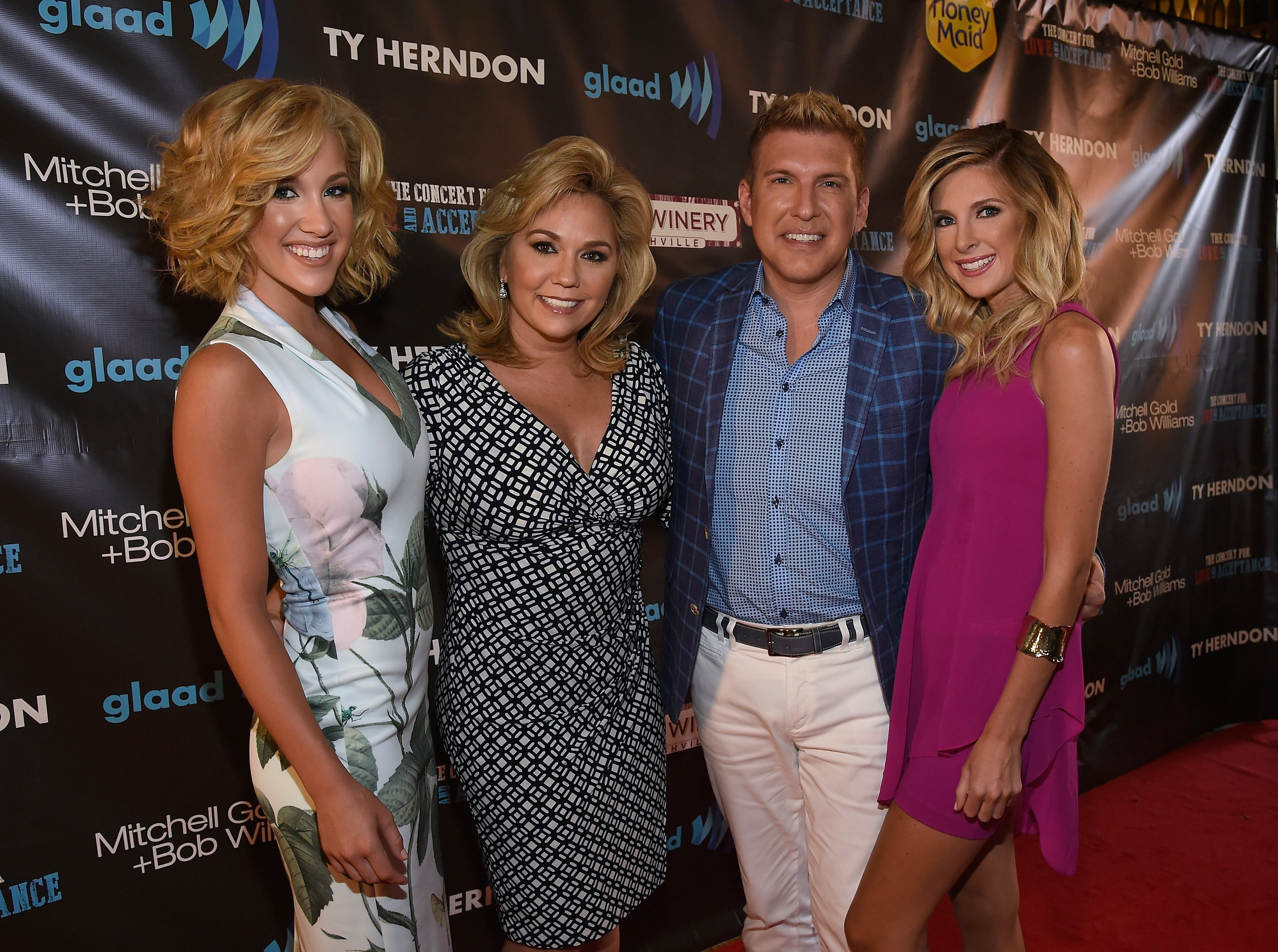 Savannah Chrisley, Julie Chrisley; Todd Chrisley, and Lindsie Chrisley Campbell attend The Concert For Love And Acceptance at City Winery Nashville on June 12, 2015 | Photo: Getty Images
