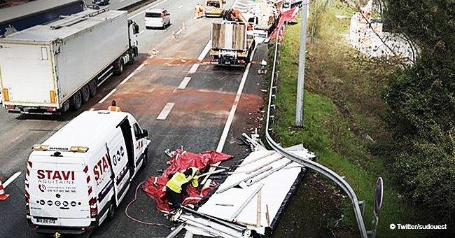 Bordeaux : huit camions s'écrasent, des images de dégâts impressionnants dévoilées
