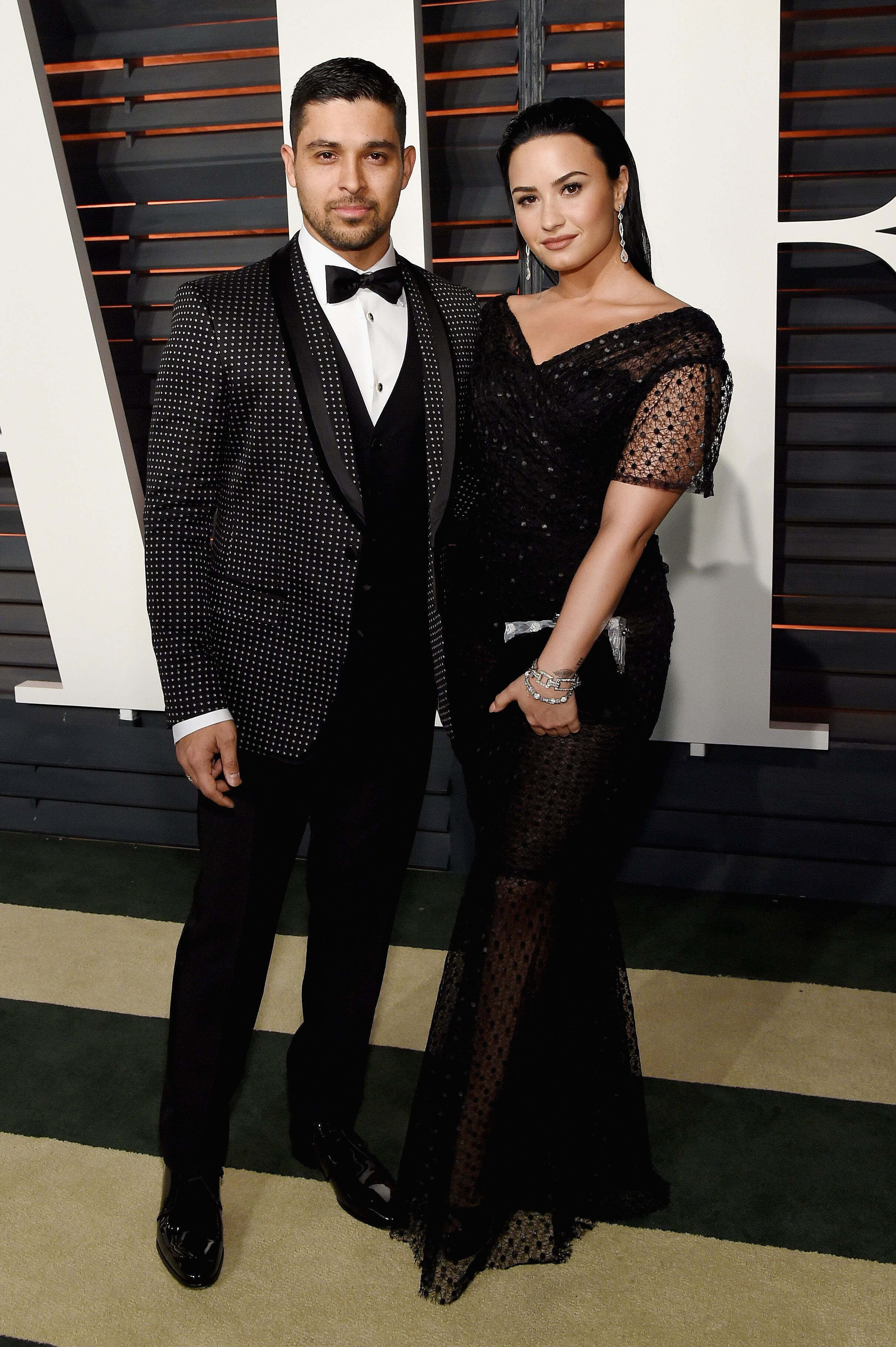 Wilmer Valderrama and Demi Lovato at the 2016 Vanity Fair Oscar Party | Source: Getty Images