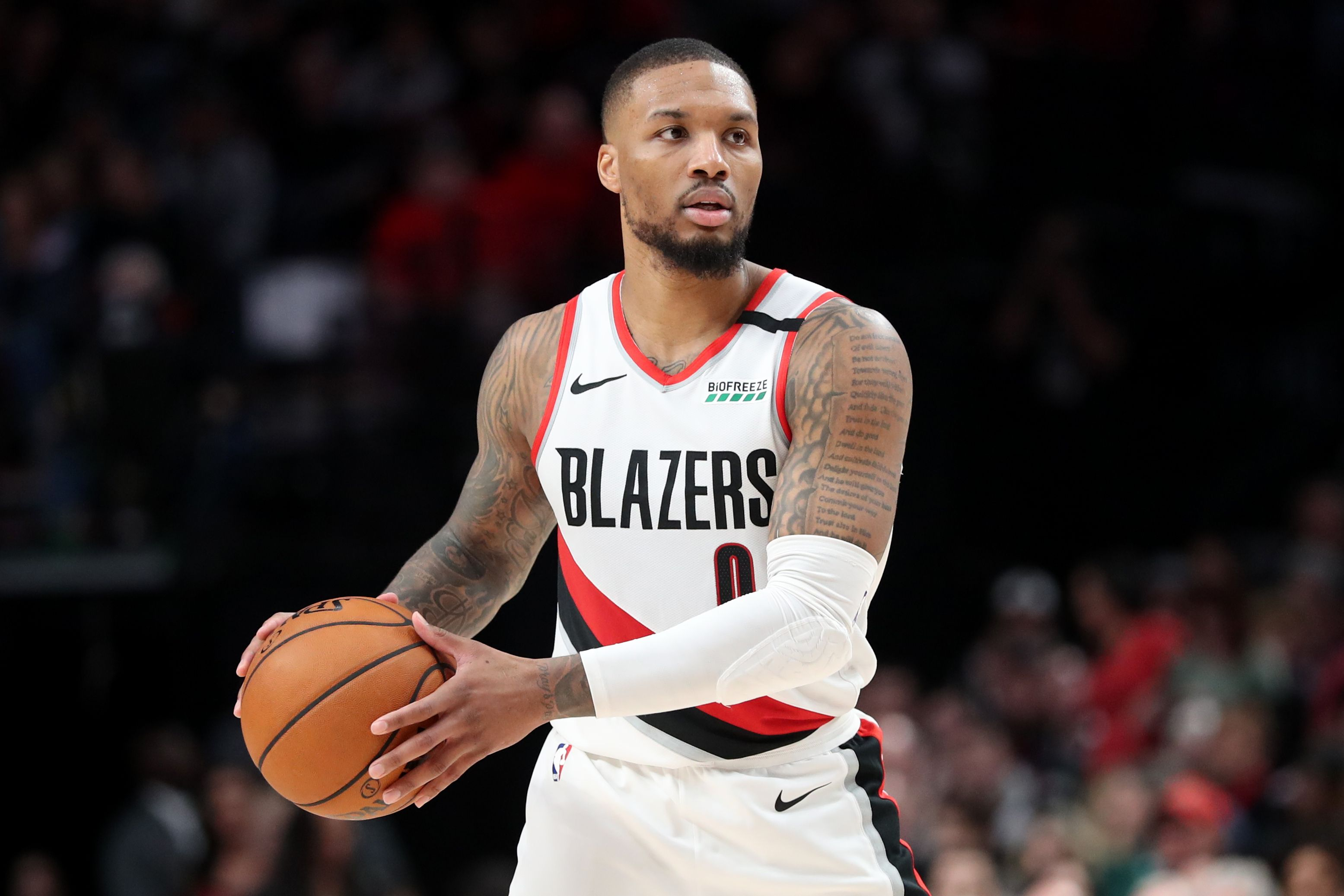 Damian Lillard #0 of the Portland Trail Blazers during a game against the San Antonio Spurs at Moda Center on February 06, 2020 in Portland, Oregon | Photo: Getty Images