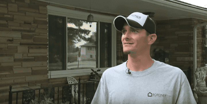 David Fredman discussing how he saved Max the dog on August 5, 2019 | Photo: YouTube/FOX4 News Kansas City