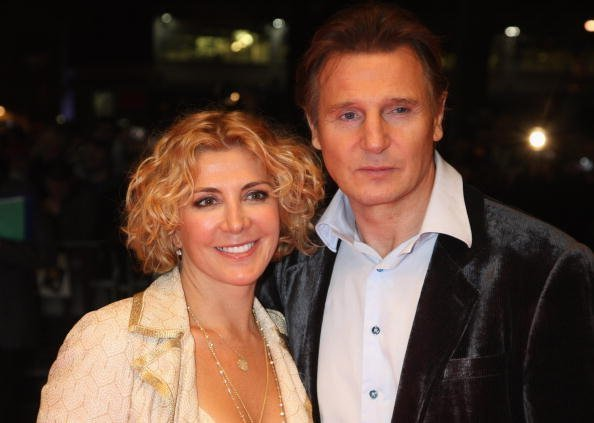 "Natasha Richardson and Liam Neeson at the ""BFI 52"" London Film Festival on October 17, 2008. 