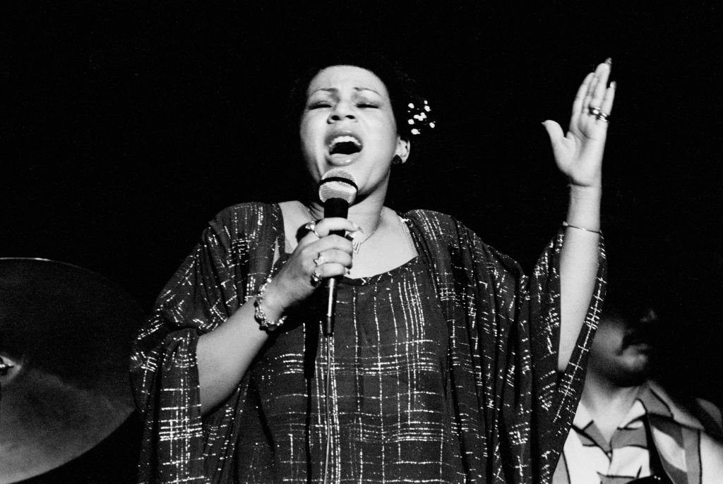 Singer Minnie Riperton performs onstage at the Ivanhoe Theater, Chicago, Illinois, April 20, 1977.   Photo: Getty Images