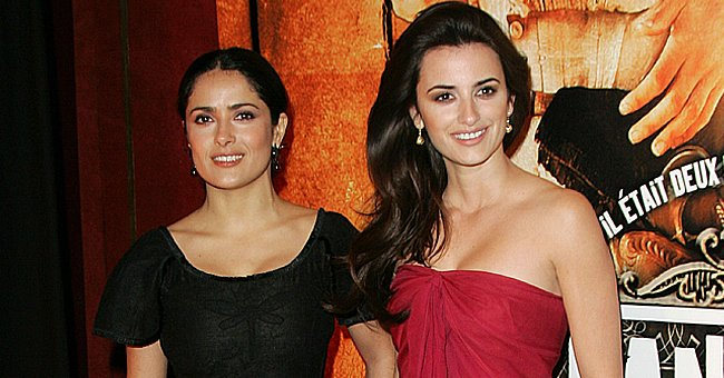 Salma Hayek Posts Throwback Photo with Penelope Cruz & Jokes about Wanting the Pandemic to End