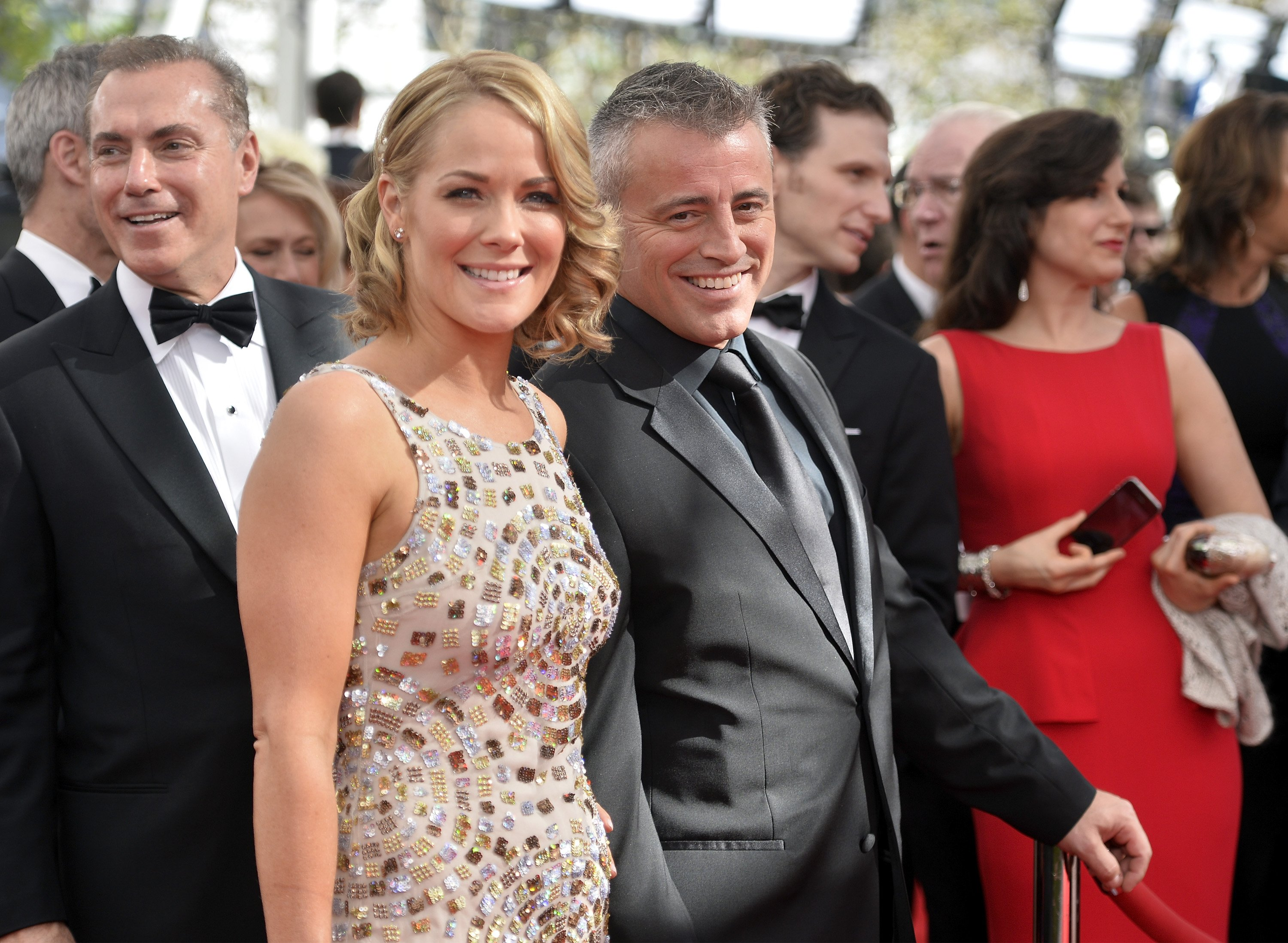 Matt LeBlanc and Andrea Anders arrive at the 65th Annual Primetime Emmy Awards held at Nokia Theatre L.A. Live on September 22, 2013 in Los Angeles, California. | Source: Getty Images.
