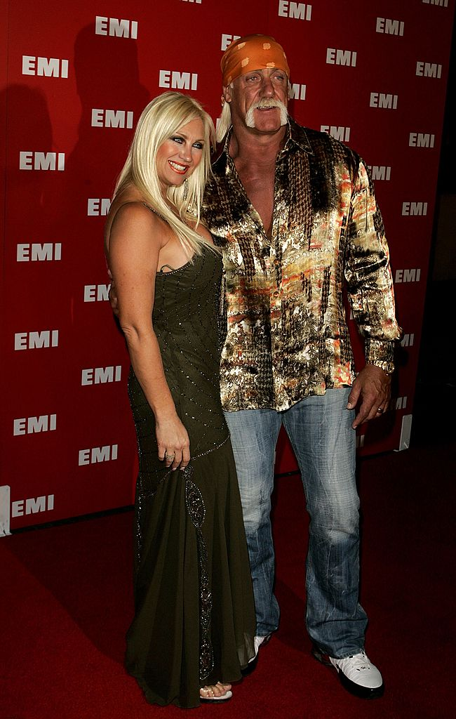"Terry ""Luke"" Hogan and his wife Linda Hogan arrive at EMI's Post-Grammy Bash held at Paramount Studios  