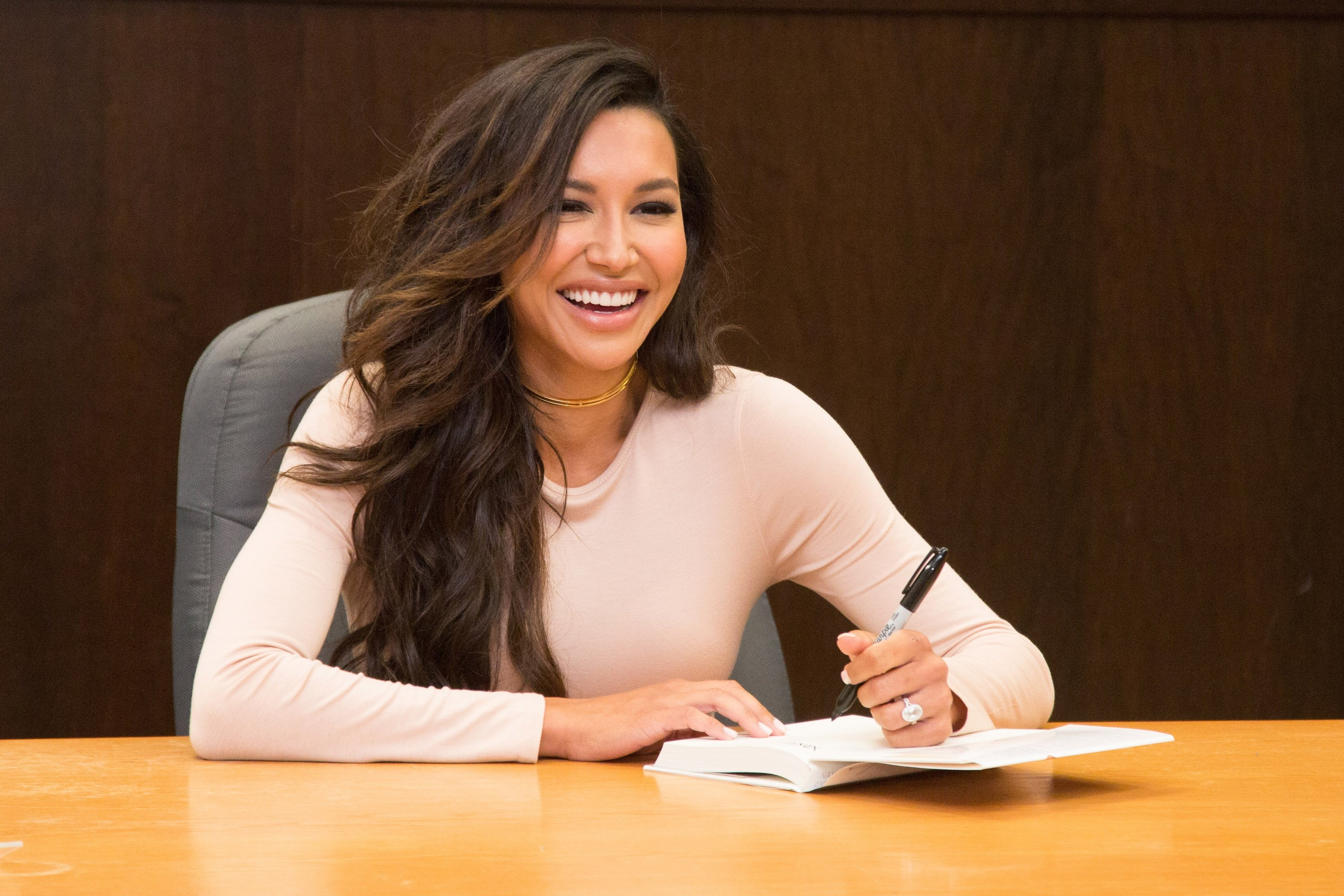 """Naya Rivera pictured her book signing for """"Sorry Not Sorry."""" 2016, California.   Photo: Getty Images"""