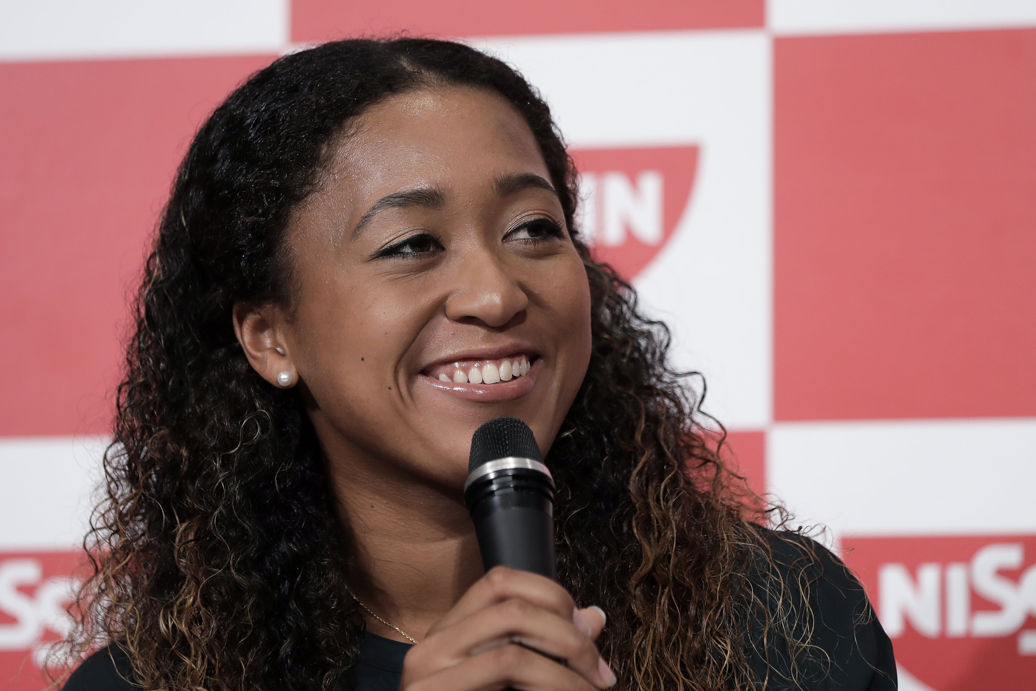 Naomi Osaka during a press conference in Japan in 2018. | Photo: Getty Images