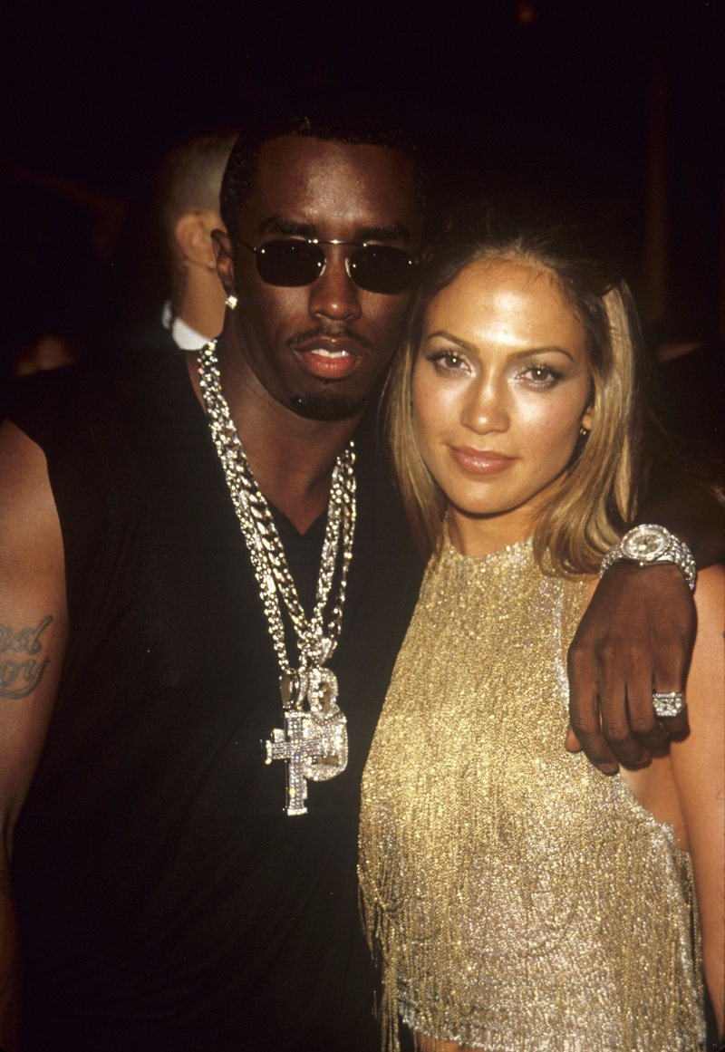 """Sean """"Diddy"""" Combs and Jennifer Lopez on December 5, 1999 