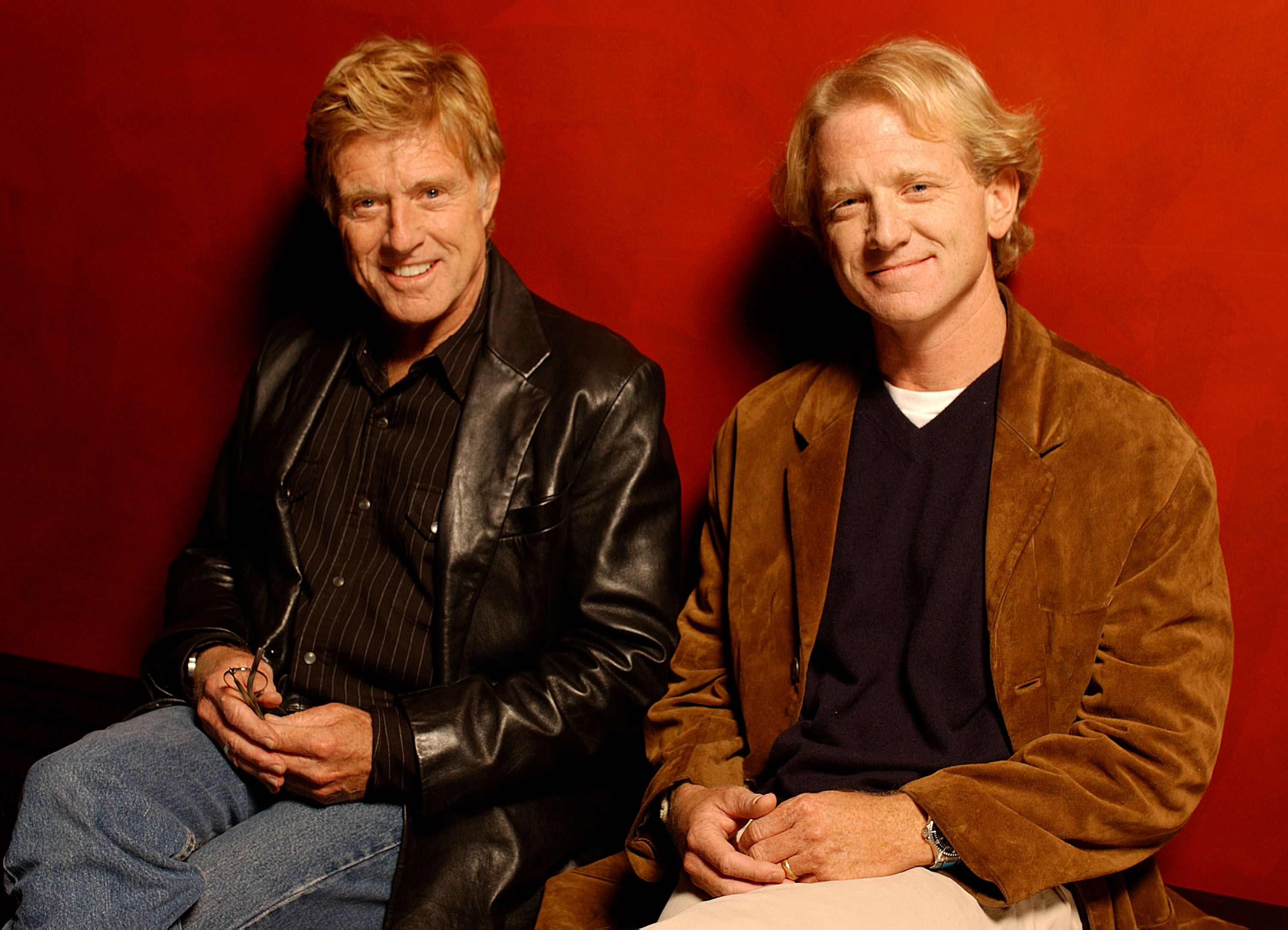 """Robert Redford and son James Redford at AFI Film Festival screening of James Redford's Directorial Debut """"SPIN"""" - Portraits at ArcLight Cinemas on November 08, 2003   Photo: Getty Images"""