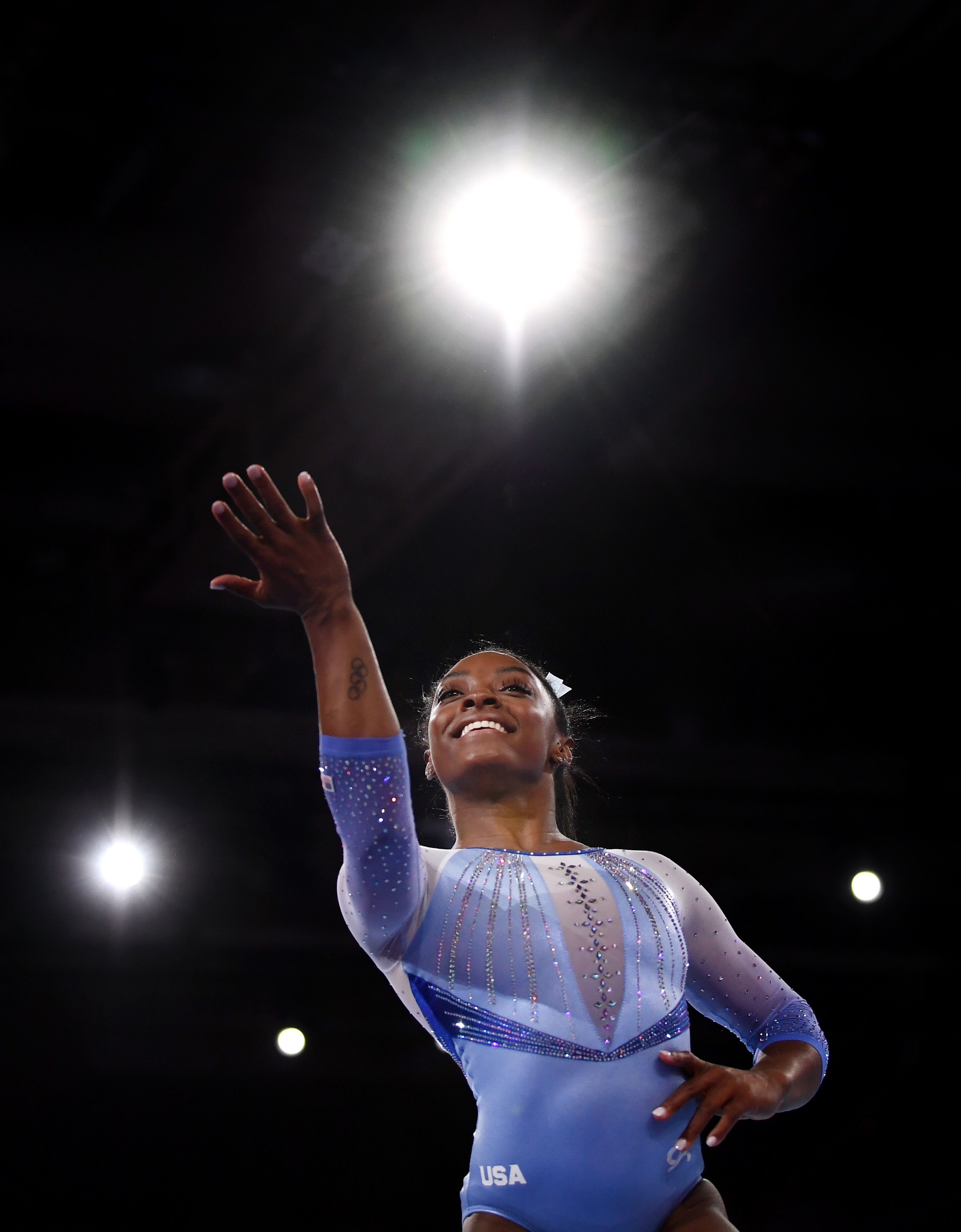 Simone Biles performing at the Stuttgard World Championship/ Source: Getty Images