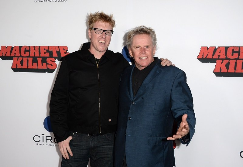 Jake Busey and Gary Busey on October 2, 2013 in Los Angeles, California | Photo: Getty Images