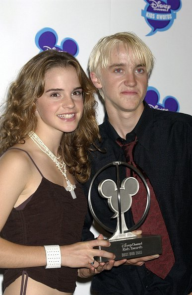 Emma Watson And Tom Felton at The Royal Albert Hall, London, Britain on September 20, 2003. | Photo: Getty Images