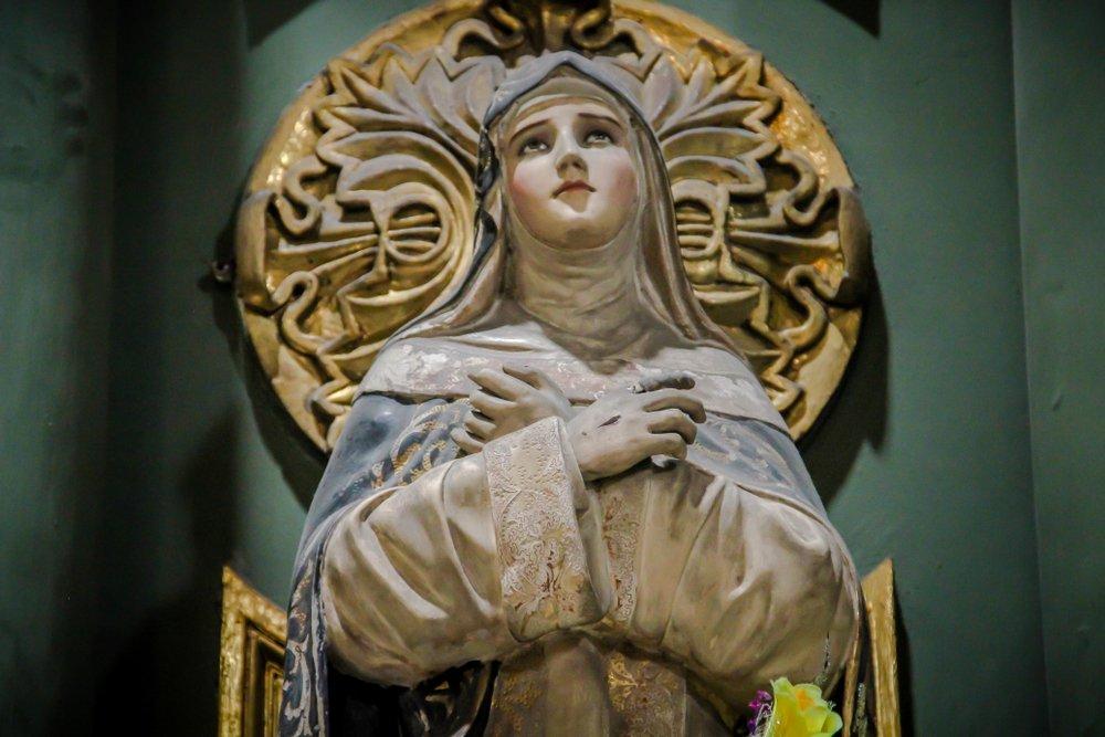 Imagen de Santa Rosa de Lima, ubicada en el Convento e Iglesia de Santo Domingo.| Fuente: Shutterstock