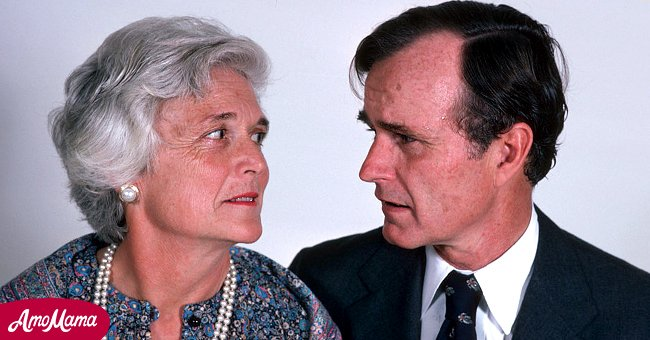 Barbara Bush and her son George W. Bush   Source: Getty Images