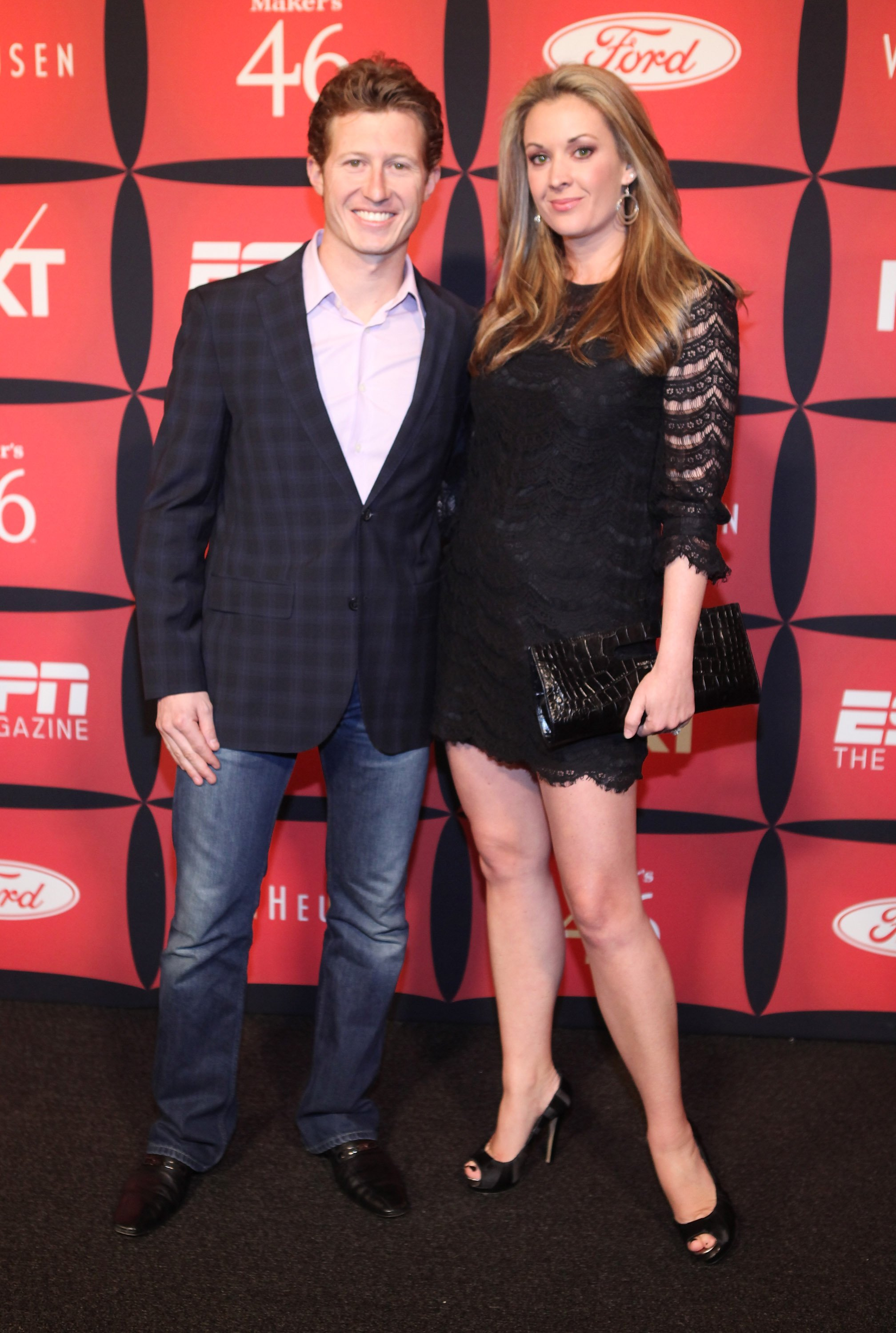 """Race driver Ryan Briscoe and sportscaster Nicole Briscoe attend ESPN The Magazine's """"NEXT"""" Event on February 3, 2012 in Indianapolis, Indiana 