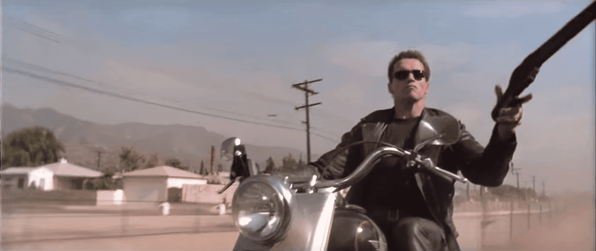 "Arnold Schwarzenegger in ""Terminator 2 - Judgement Day."" 