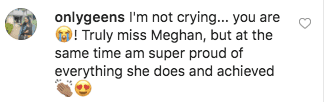 A fan's comment on Patrick J. Adams' post. | Source: instagram.com/halfadams