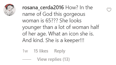 A fan's comment on Christie Brinkley's post on Instagram. | Photo: Instagram.com/christiebrinkley