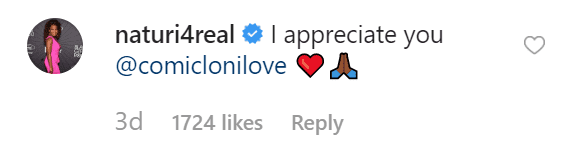 Naturi Naughton's comment on Loni Love's words | Source: Instagram/therealdaytime