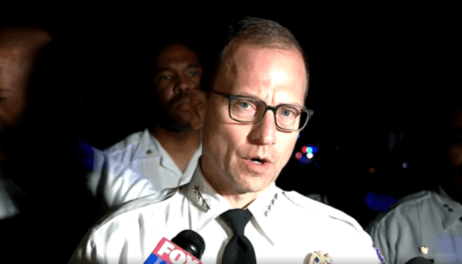 Prince George's County Police Chief Hank Stawinski addressing the media at the scene of the shooting, in Maryland | Photo: CNN