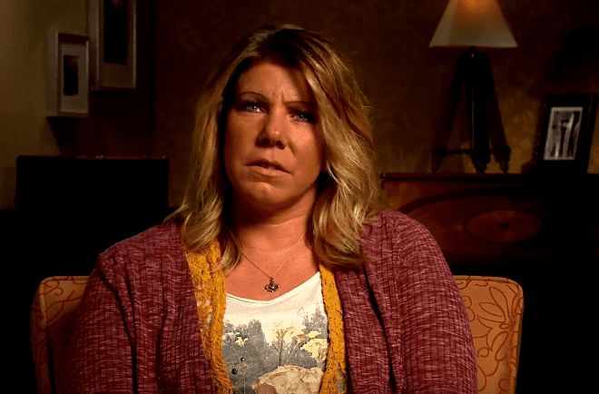 "Meri Brown durin and episode of ""Sister Wives"" 