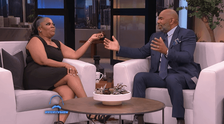 Mo'Nique and Steve Harvey had an intense conversation on the show. | Soure: YouTube/Steve TV Show