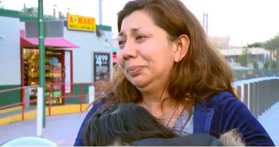 Thelma Galexia holding Julia as she cried   Photo: NBC 7