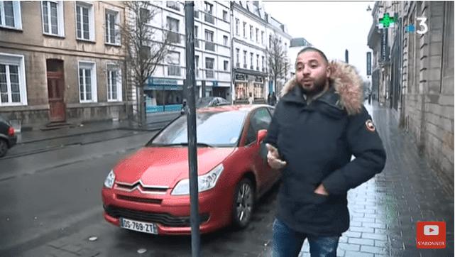 Mohamed Saïd dans le rue d'Arras | Youtube / France 3 Hauts-de-France