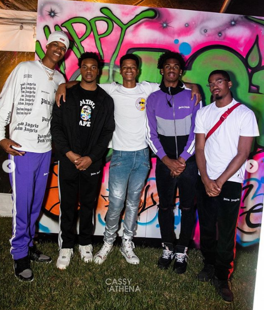 Shaqir O'Neal and his friends at his 16th birthday party. | Source: Instagram/cassyathenaphoto