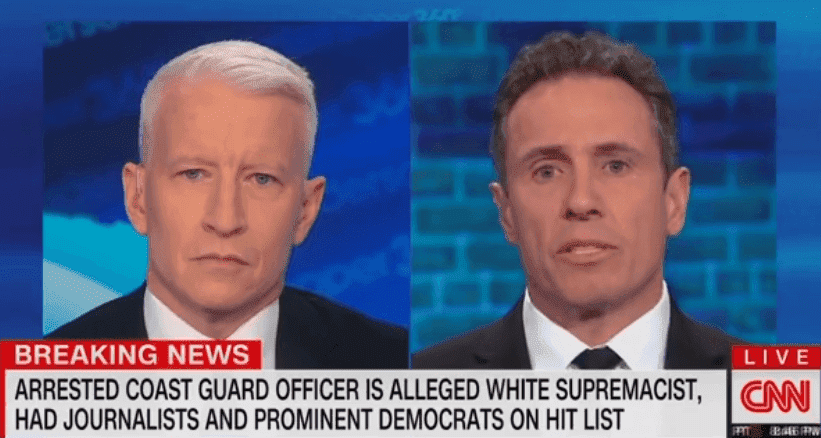 Chris Cuomo discussing Christopher Hasson's arrest with Andrew Cooper   Photo: CNN
