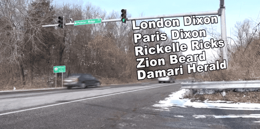 The names of the deceased children on Route 301 | Photo: WUSA9